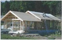 瓦屋根家屋の野地板に塗布