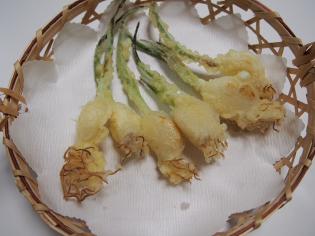 芽子にんにくの天ぷら